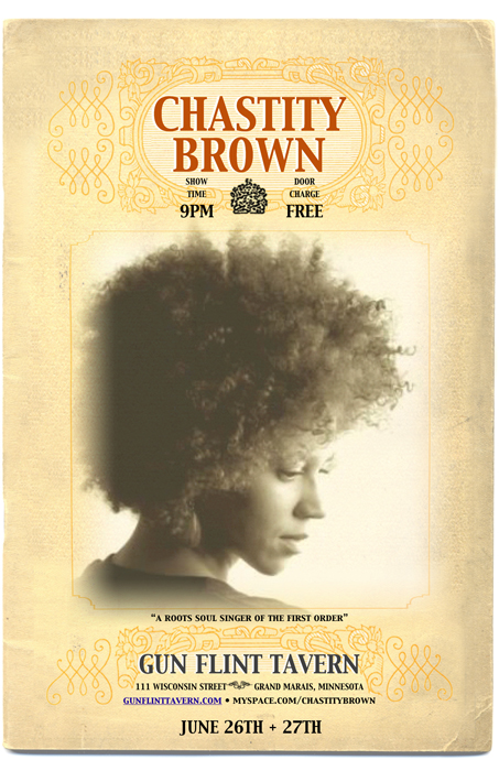 chastity brown - gun flint - final poster