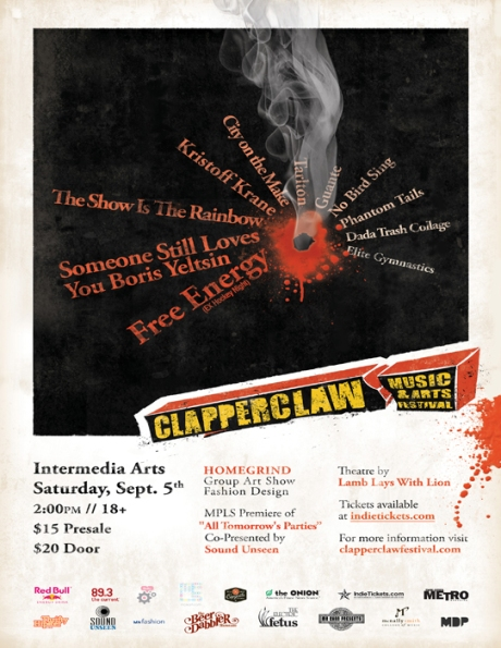 clapperclaw festival poster front