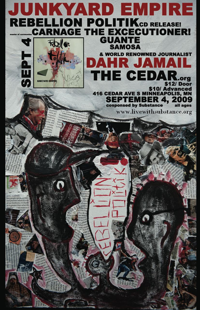 Junkyard Empire CD Release Party Poster (600pxl)
