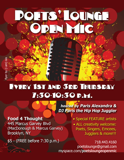 poets lounge open mic flyer