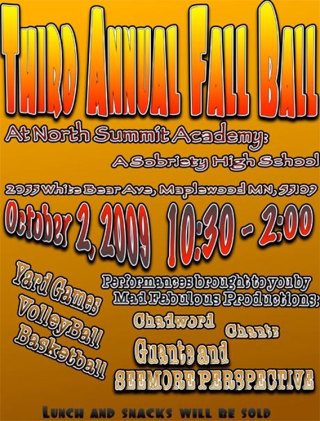 Fall Ball Flyer - Oct 2nd Flyer